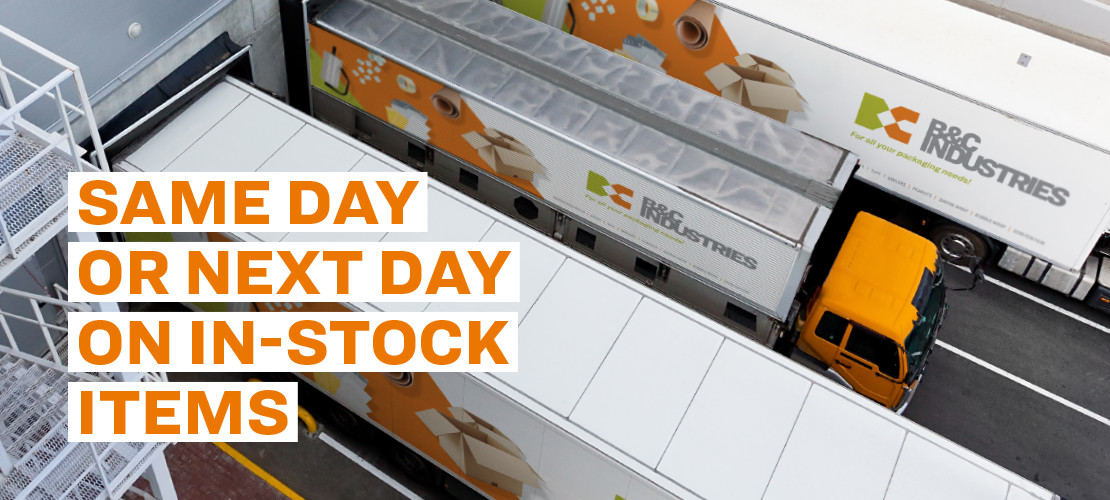 Same Day or Next day on in-stock items